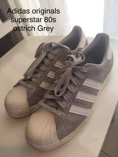 Adidas Originals Superstar 80s Ostrich Grey Flat Leather sneakers