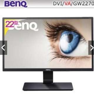 福利品 BenQ GW2270 22型VA寬螢幕 18.5.18 保三年