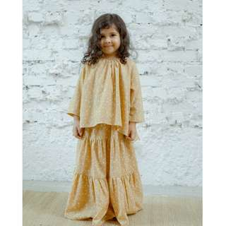 WHIMSIGIRL Vera Girl Kurung in Yellow Star - 4Y **BRAND NEW**