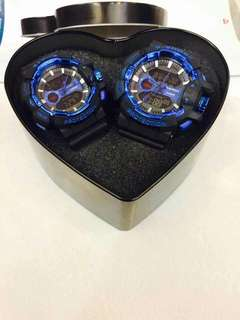 G-shock couple W/ heart can Php500
