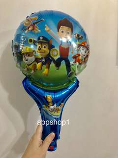 Paw patrol handheld balloons- goody bag gift, children birthday goodies favors