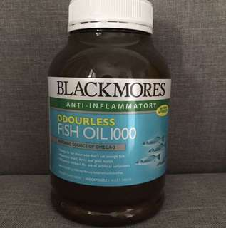 Blackmores Odourless Fish Oil 1000mg, 400 Capsules