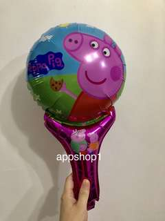 Peppa pig handheld balloons- preschool party goodies bag, goody bag gift