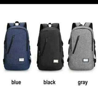 Canvas Backpack External USB