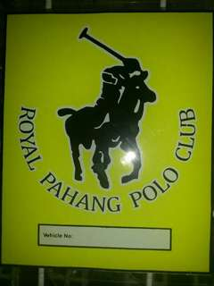 Polo Club Window Car Stickers