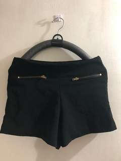 Black mini shorts