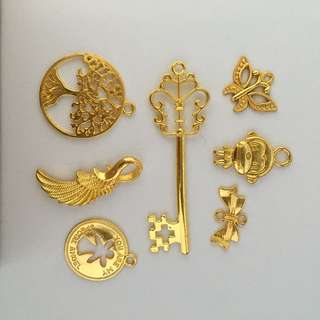Mix Gold Metal Charms