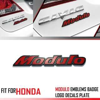 Car Metal 3D Emblem MODULO Logo Trunk Decal For Honda Cars