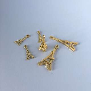 Eiffel Tower Gold Metal Charm