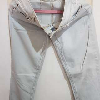 Guess ombre white & sky blue pants