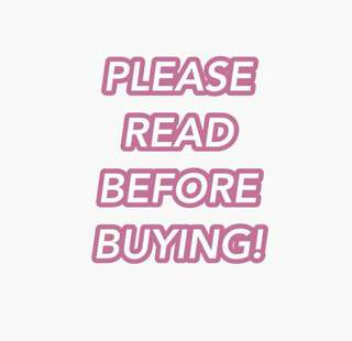 READ BEFORE BUYING