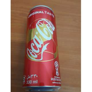 UAE World Cup 2018 Coca-Cola Original Can 330ml with content (FROM UAE)