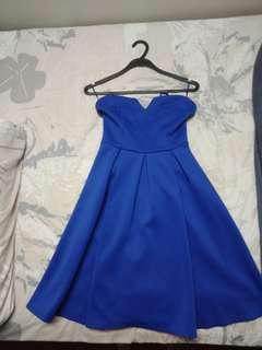 Dorothy perkins Blue tube prom dress