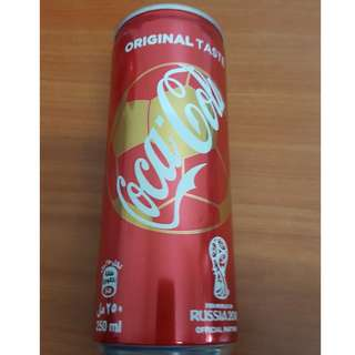 UAE World Cup 2018 Coca-Cola Original Can 250ml with content (from UAE)