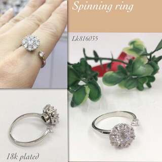 Pandora spinning ring 18k plated