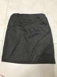 HW grey slit skirt