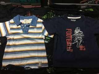 Bundle Of 2 BOYS Shirt (ORIGINAL TIMBERLAND/OSHKOSH BGOSH)