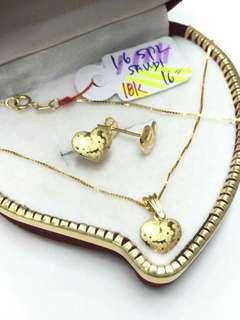 Gold Set (lightweight earrings/pendant)SUPPLIER ONHAND