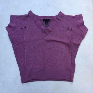 MANGO purple crop top