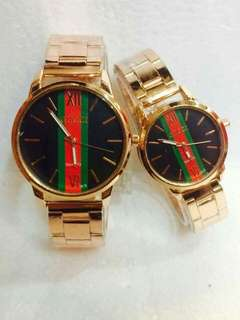 Gucci couple watch W/box Php480