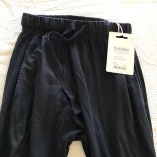 Bassike Black jersey slouch pant 3 size xs