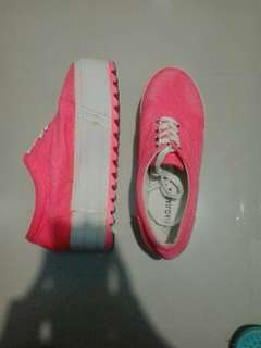 REPRICED! Pink Sneakers (with 2 inch sole)