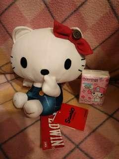 (有冇人真系想要?)日本限定Hello Kitty ㄨ Edwin中公仔(現貨一隻)