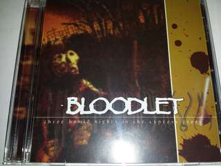 Music CD: Bloodlet–Three Humid Nights In The Cypress Trees - Hardcore, Victory Records