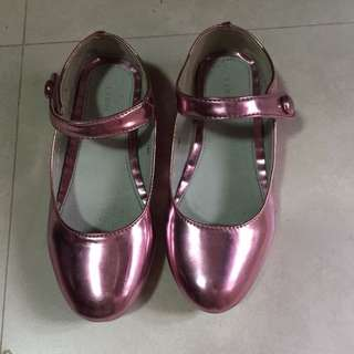 Cute Pink Ballet Shiny Shoes
