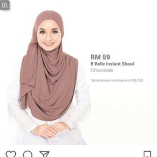 Bbelle instant shawl