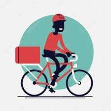 Delivery in CBD area by bicycle