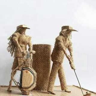 Miniatur dari karung goni