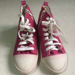Cute Pink High Cut Shoes
