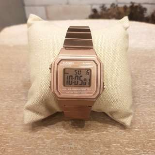 Authentic Brand New Casio Rose gold vintage metal watch