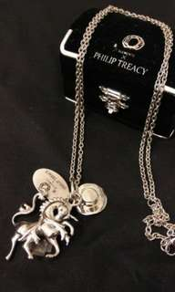 """Philip Treacy 14"""" necklace with charms"""