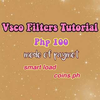 Vsco Filters Tutorial