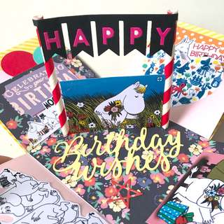Happy birthday wishes moomin design Explosion Box card