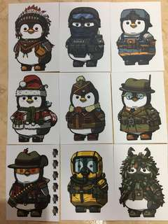 Military Penguin Stickers