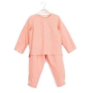 WHIMSIGIRL Amal Baju Melayu in Blush - 6Y