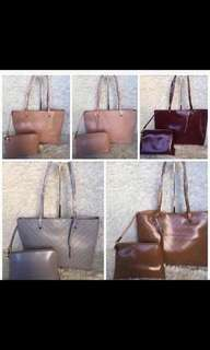 Charles and Keith 2in1 tote and pouch