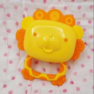 Richell小獅子安撫玩具固齒器