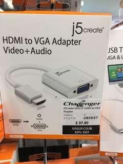 J5 create hdmi vga audio