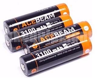 Acebeam IMR 18650 3,100mAh 20A - $25 per pc