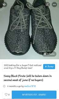 Yeezy black pirate *limited time*