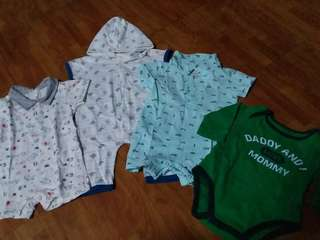 Bundle baby rompers 0-3mos