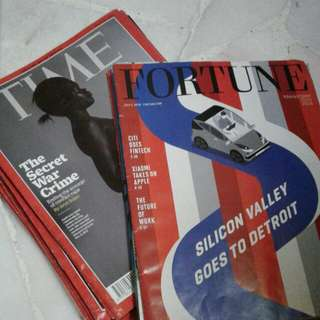 TIME and FORTUNE 2016 magazines