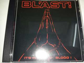 Music CD: Bl'ast! – It's In My Blood! - Hardcore / Punk, SST Records