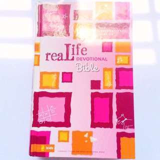 #FreePostage [NEW - ZonderKidz] NIV Real Life Devotional Bible.