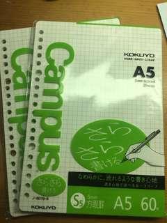 Campus 活頁紙 A5 60枚 kokuyo