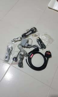 Assorted cables, wiring (lan, telephone, printer, usb)